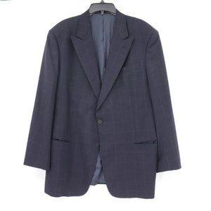 Armani mens size 44R windowpane plaid sport coat